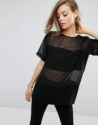 T-shirt transparent et opaques